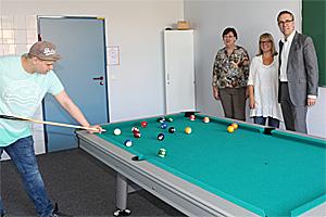 Der neue Billardtisch Schule Rodenbeck