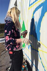 Grafitti-Projekt am Container